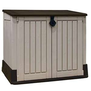 Keter Store-It Out Midi Outdoor Plastic Garden Storage Shed, Beige and Brown, 130 x 74 x 21 cm - £76.50 @ Amazon - Prime Exclusive