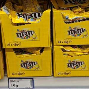 Peanut M&M's 45g bags 19p each in-store @ Poundstretcher Bury Mill Gate (BBE 16/06/2019)