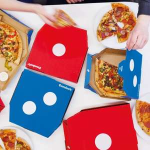 Dominos Pizza Mega Week Any Size Pizza £4.99 collect £9.99 delivered.