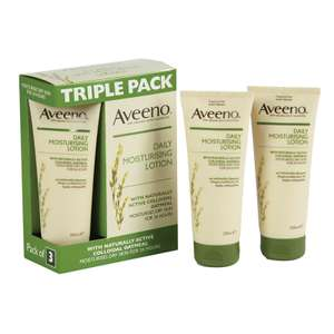 At Boyes Discount Store - Aveeno Daily Moisturising Lotion Triple Pack - 3x 200ml - £7.99 instore