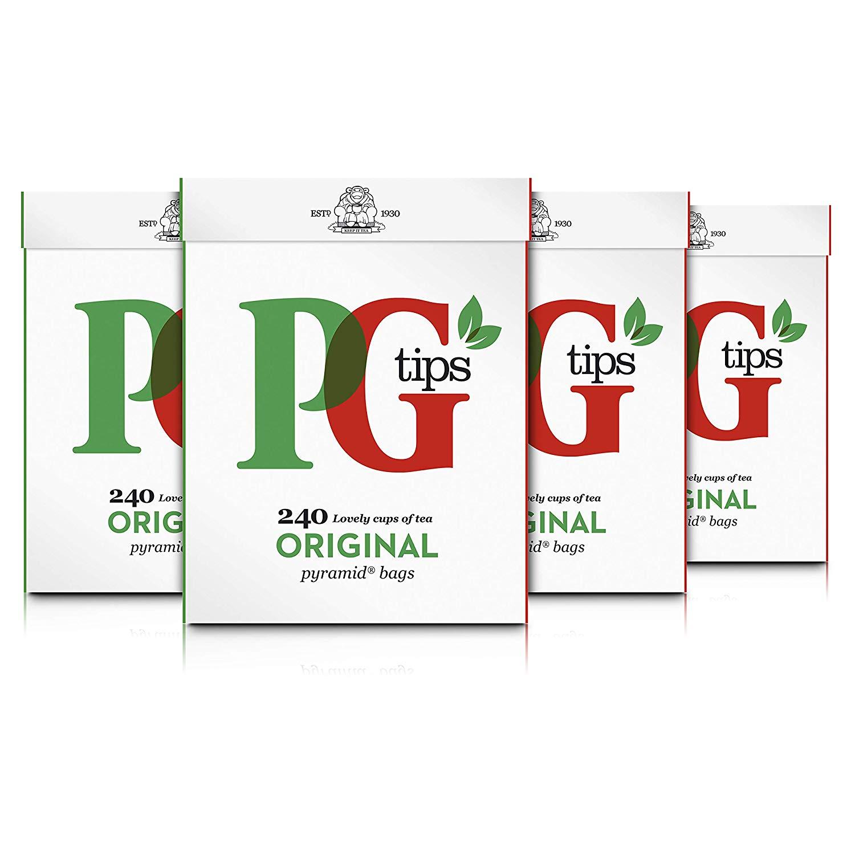 PG Tips Original Pyramid Tea Bags (Pack of 4, Total 960 Tea Bags) £12.00 (+£4.49 non Prime) - Amazon