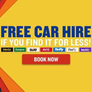 Free Car Hire with Ryanair If you find the same offer for a lower price on any car hire supplier's direct websites