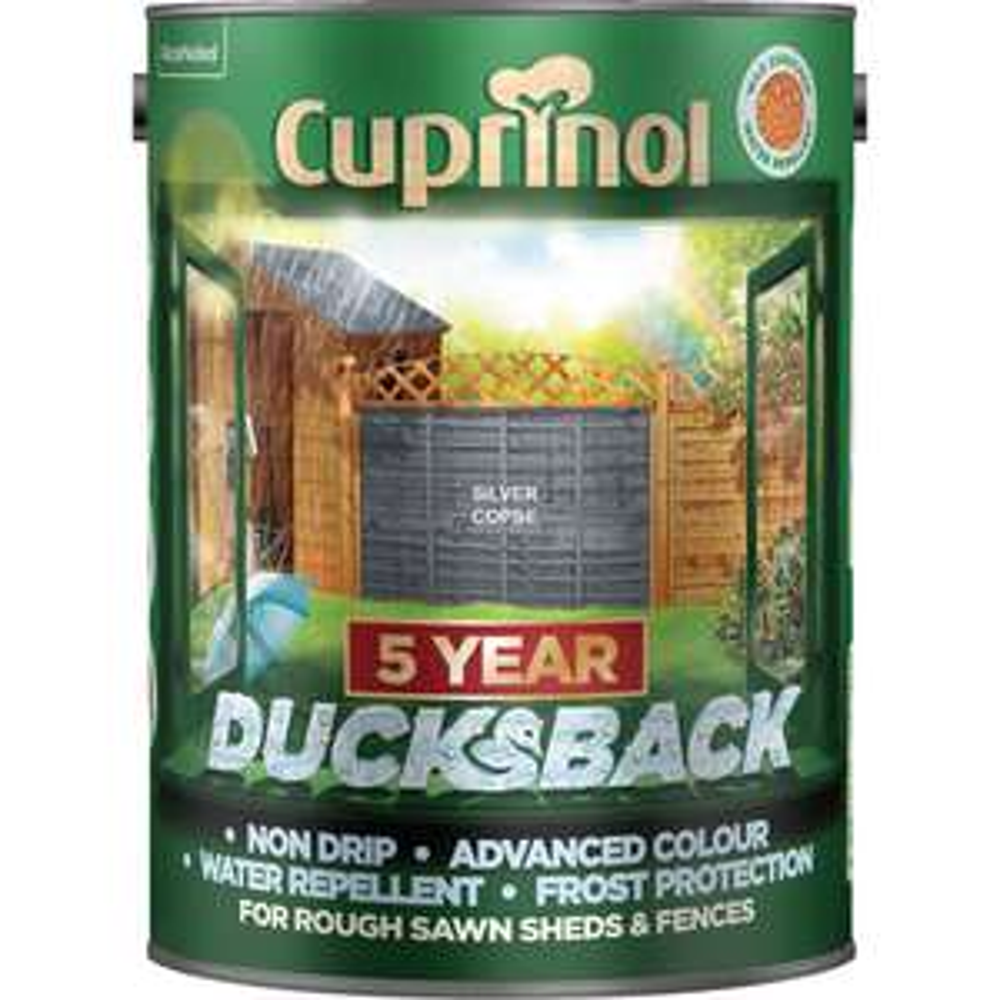 Cuprinol Ducksback Silver Copse Exterior Wood Paint 5L @ Wilko £8