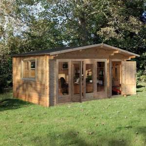 """Forest Garden Kimbrey 44mm Log Cabin 17ft x 13ft 8"""" (5.2 x 4.2 m) £3,299.89 @ Costco - Free delivery!"""