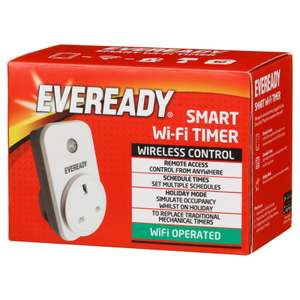 Eveready Smart Plug wi-fi plug - 50p instore @ B&M