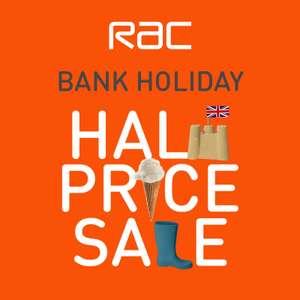 RAC Bank Holiday Half Price Sale Now Live - Breakdown cover from £2.75pm @ RAC