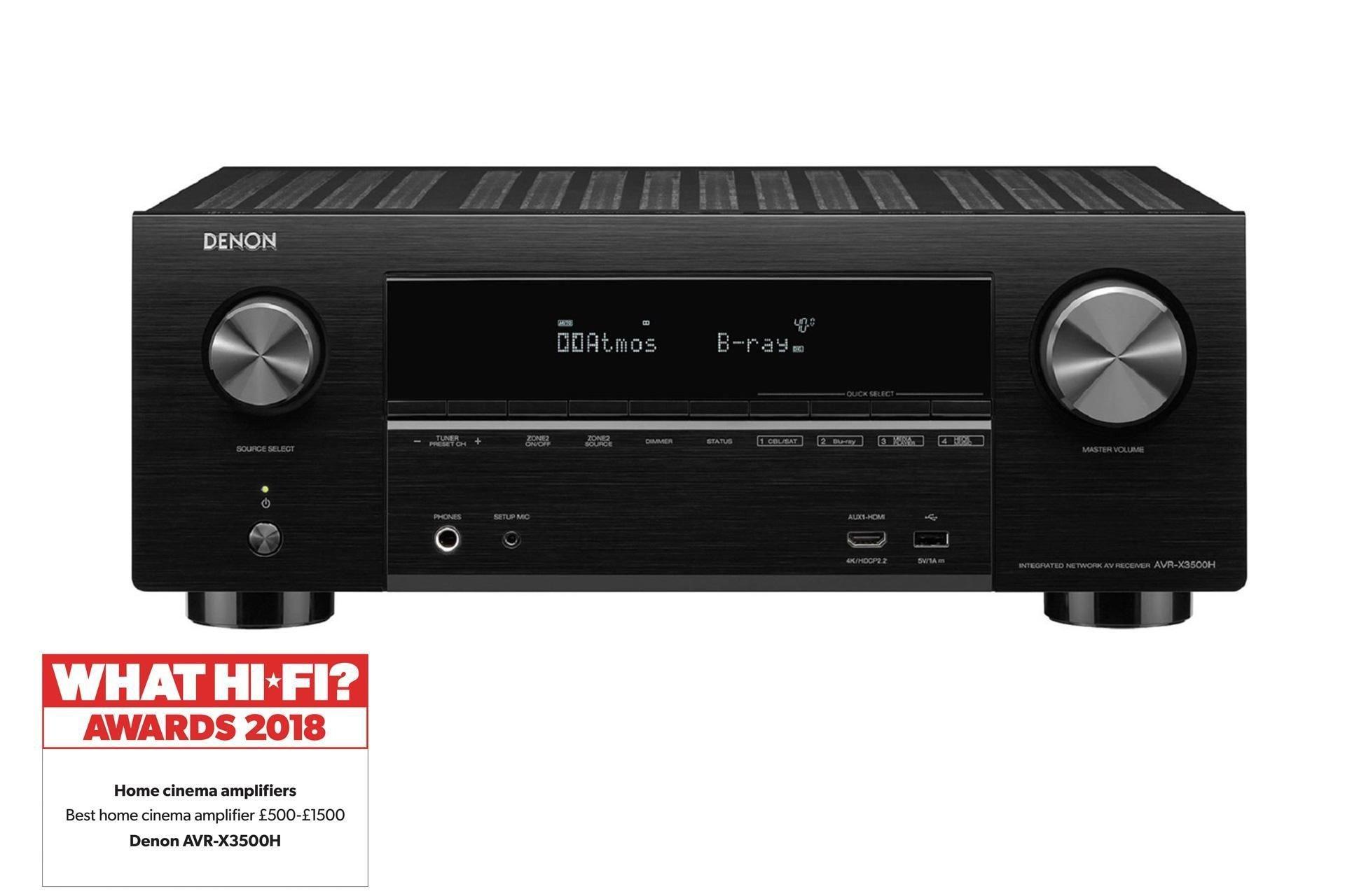 Denon AVRX3500H Dolby Atmos AV Receiver - £499 (With Code) @ Richer Sounds