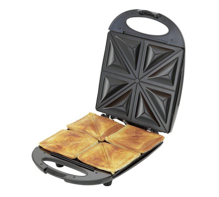 Cookworks 4 Portion Sandwich Toaster Black, Now £12.99 - Was £24.99 @ Argos ( Free C&C )