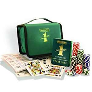 Travel Poker Set Waddingtons Number 1 - £8 (Prime) / £12.49 (non Prime) Sold by Surplus Trade Supplies and Fulfilled by Amazon.