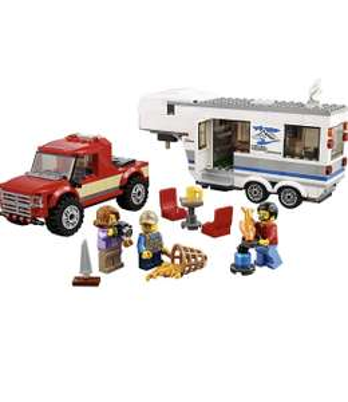 LEGO 60182 City Great Vehicles Pickup & Caravan Playset - £13.99 (Prime) £18.48 (Non Prime) @ Amazon