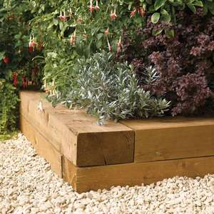 Rowlinson Timber Sleepers 12m Only 8 At Wickes Hotukdeals