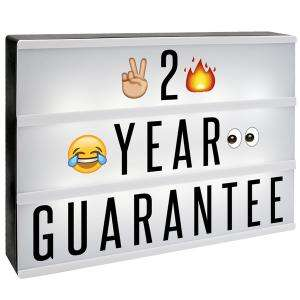 A4 Lightbox with 205 Letters & Emoji + Micro USB Cable £6.99 delivered with code @ Shop4World  - Father's Day Gift?