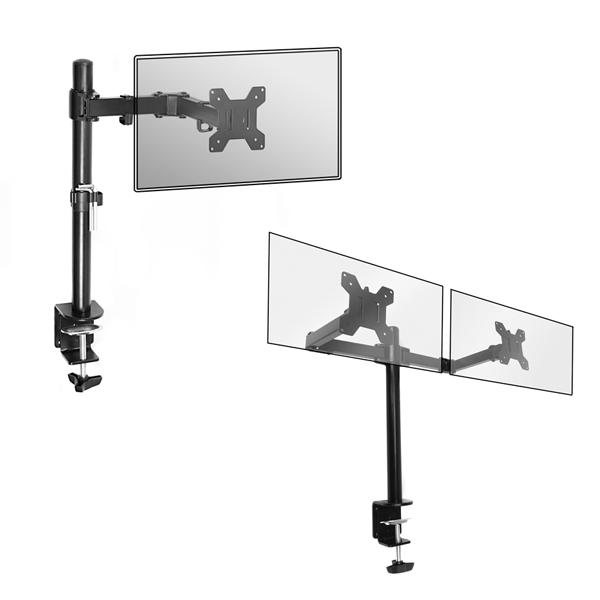 """Single Arm Monitor Desk mount 13"""" - 27"""" - £13.99 / Double £17.99 eBay / maisonandwhite"""