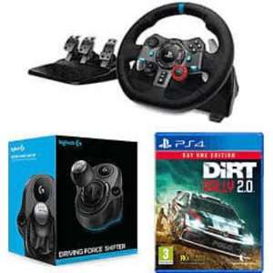 Logitech G29 / G920 Racing Wheel with Logitech Shifter and Dirt Rally 2.0 - £178.99 @ Game