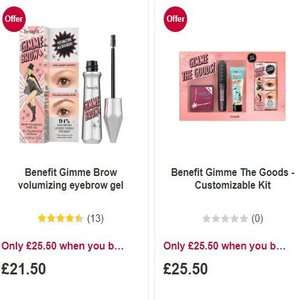 Buy 2 Sets of Benefit Gimme The Goods Customizable Kit + Benefit Gimme Brow volumizing eyebrow gel (Worth £113) for £41 at Boots