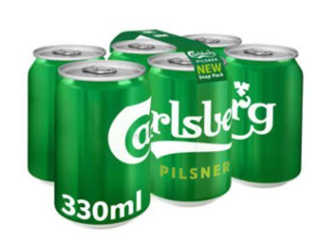 Free Carlsberg glass gift with purchase of Carlsberg Danish Pilsner Snap Pack - £4 @ Asda
