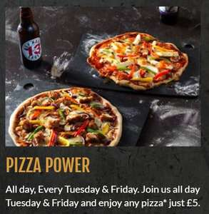 Large Pizza £5 every Tuesday and Friday at Marston pub