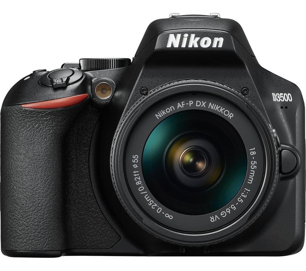 NIKON D3500 DSLR Camera with AF-P DX NIKKOR 18-55 mm f/3.5-5.6G VR Lens for £266.90 delivered @ Currys eBay