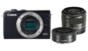 Canon EOS M100 Mirrorless Camera with 15-45mm & 22mm Lenses - £367.99 @ Argos