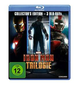 Iron Man Trilogy [Trilogie] Collectors Edition 3 Blu Ray Discs £12.55 @ Amazon Prime / £16.50 Non Prime