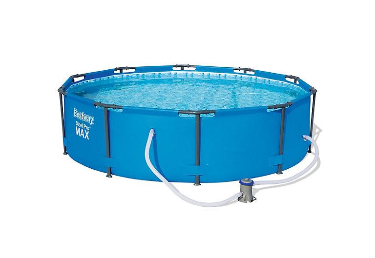Bestway Plastic Pool 3 x 1m (Metal frame) 10ft WITH pump @ £77.60 @ B&Q