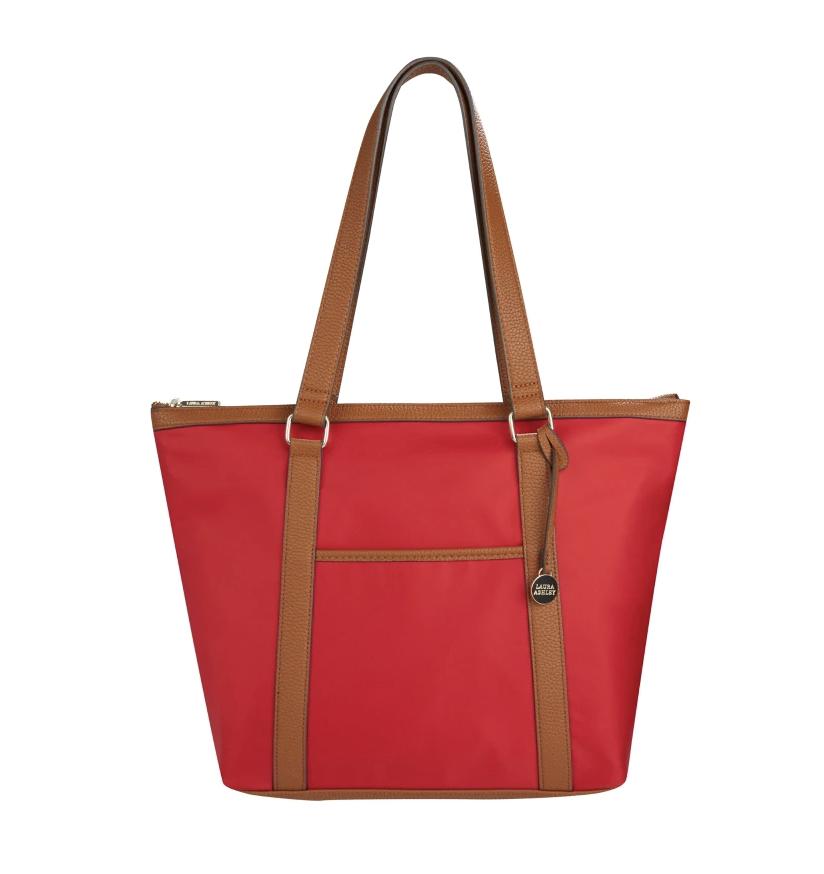 Laura Ashley Red Nylon Tote Bag (Faux Leather Trim) £9 @ Laura Ashley