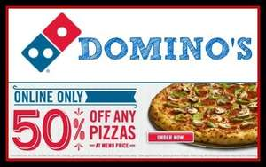 Domino's Pizza 50% off on £30+ spend pizza only!