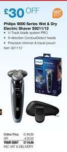 Philips 9000 Series Wet & Dry Electric Shaver S9211/12 - £119.89