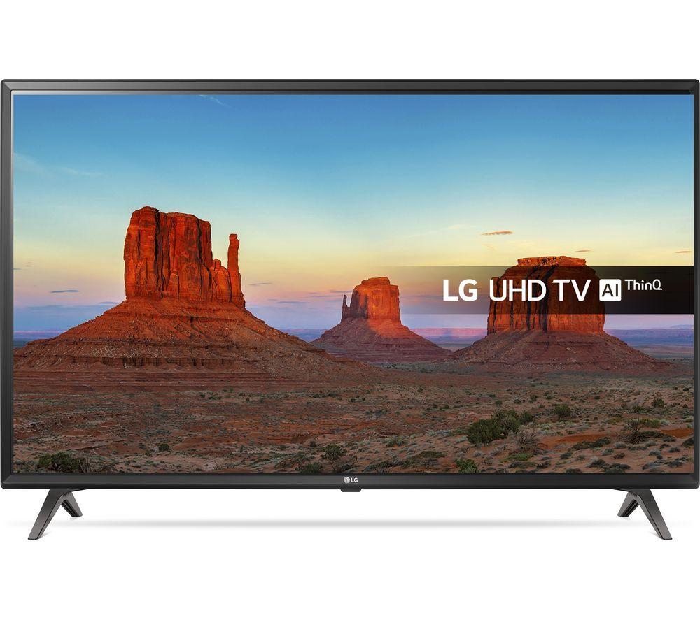 "LG43UK6300PLB 43"" Smart 4K Ultra HD HDR LED TV - £289 @ Currys"