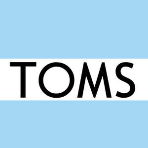 25% off orders over £45 at Toms + 10% TopCashback