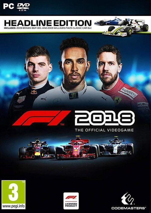 F1 2018 Headline Edition PC Steam Key £7.79 @ cdkeys