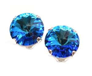 Sterling silver earrings with a Swarovski Bermuda blue crystal - £6.39 Sold by pewterhooter and Fulfilled by Amazon (+£4.49 non Prime)
