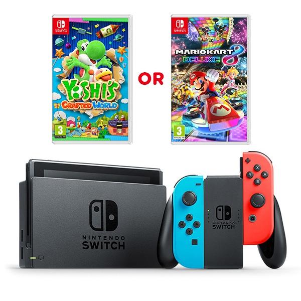 Nintendo Switch Console & Yoshi / Mario Kart / Mario Bros / Mario Odyssey / Mario Party / Mario Tennis / Splatoon / Pokemon £279.99 @ Smyths