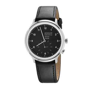 Mondaine Helvetica 2nd time zone 40 mm AR Sapphire crystal £186.45 Browns Family Jewellers