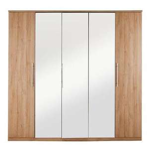 Prague 5-Door Mirrored Wardrobe £253.19 with code @ Very