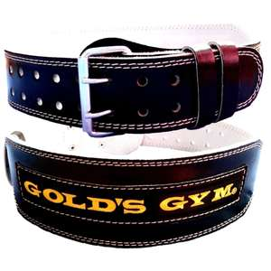 "Gold's Gym 4"" Leather Weight Lifting Belt for Lumbar Back Support - Small £9.44 / M, L, XL £10.34 delivered @ eBay / sitaratraders"