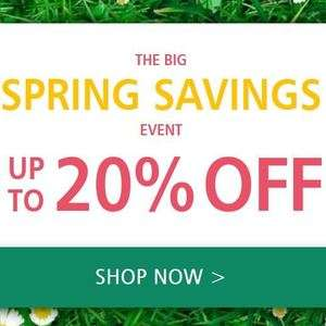 upto 20% off spring savings at lakeland - selected item