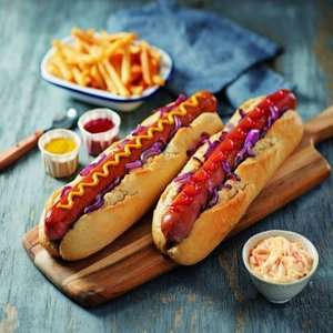Foot-long sausages for £1.99 / Porchetta 1.5KG joint just £9.99 @ ALDI