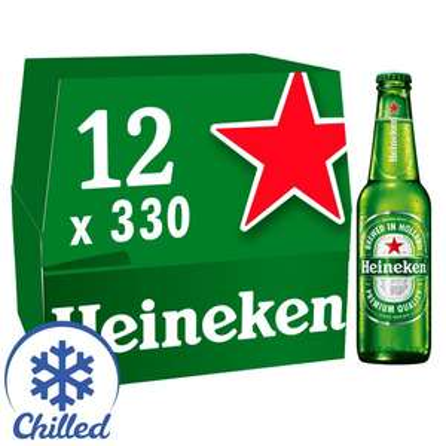 Heineken Premium Lager Beer 12 x 330ml bottles £8 at Morrison's