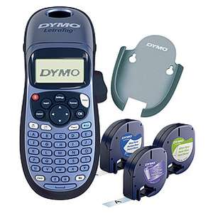 Dymo LetraTag LT-100H Bundle Label Maker (+ 3 rolls of tape) + 2 Year Warranty - £21.24 with code + Free C&C @ Clas Ohlson
