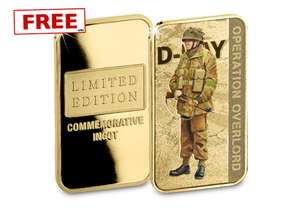 NEW D-Day Forces Ingot released – just pay P&P £2.99 at Westminster Collection