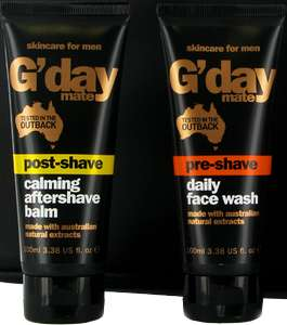G'day Mate Post-Shave Anti-Wrinkle Daily Face Moisturiser 100ml Or Pre-Shave Daily Face Wash 100ml 99p In Store @ Savers - Trongate, Glasgow