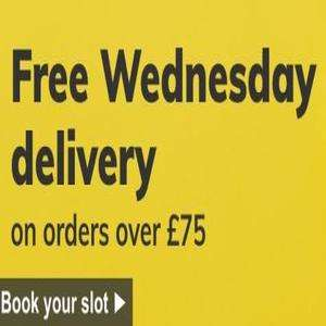 Free delivery on Wednesday's when ordering over £75 @ Ocado