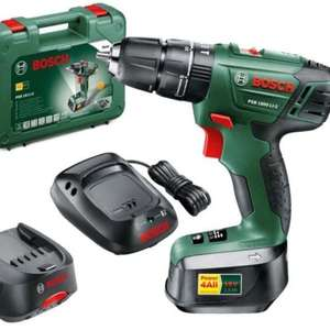 Bosch PSB 1800 LI-2 Cordless Combi Drill with Two 18 V Lithium-Ion Batteries  £59.99 @ Amazon