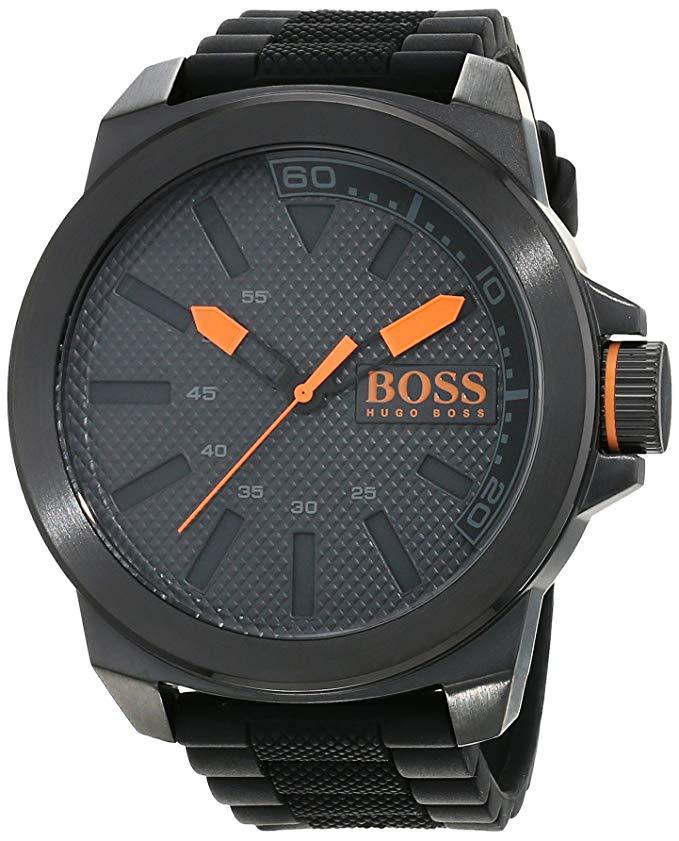 Hugo Boss Orange New York Men's Quartz Analogue Classic Black Silicone Strap 1513004 - £103 @ Amazon
