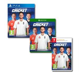 Today Only - Cricket 19: The Official Game of the Ashes £32.99 on Switch / PS4 /Xbox One @ Currys