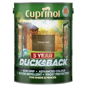 Cuprinol 5 Year Ducksback 5L Shed & Fence Treatment £7.50 @ B&M