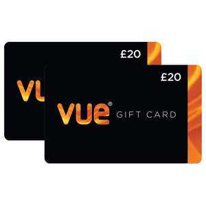Vue Cinema vouchers 2 x £20 for only £29.99 at Costco