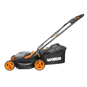 WORX WG779E.2 36V (40V MAX) Cordless 34cm Lawn Mower (Dual battery x2 20V Batteries) - £172.41 @ Amazon