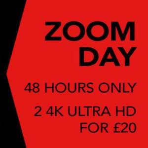 2 for £20 - 4K UHD Blu-rays at Zoom